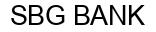 Международный товарный знак №1011804 SBG BANK