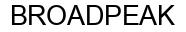 Международный товарный знак №1239584 BROADPEAK