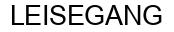 Международный товарный знак №1243577 LEISEGANG