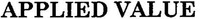 Международный товарный знак №1373643 APPLIED VALUE
