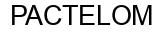 Международный товарный знак №1380844 PACTELOM