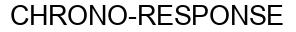 Международный товарный знак №1381232 CHRONO-RESPONSE