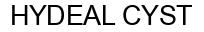 Международный товарный знак №1391497 HYDEAL CYST