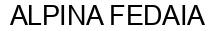 Международный товарный знак №1398511 ALPINA FEDAIA