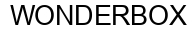 Международный товарный знак №1572555 WONDERBOX