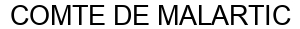 Международный товарный знак №1572679 COMTE DE MALARTIC