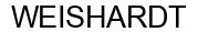 Международный товарный знак №1590293 WEISHARDT