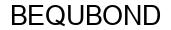 Международный товарный знак №1593445 BEQUBOND