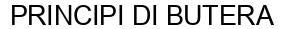 Международный товарный знак №1607806 PRINCIPI DI BUTERA