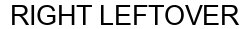 Международный товарный знак №1609598 RIGHT LEFTOVER