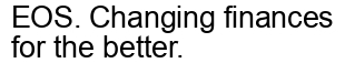 Международный товарный знак №1610535 EOS. Changing finances for the better.