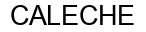 Международный товарный знак №337473 CALECHE