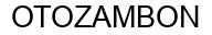 Международный товарный знак №338405 OTOZAMBON
