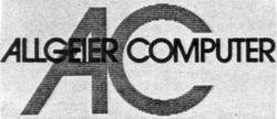Международный товарный знак №492817 AC ALLGEIER COMPUTER