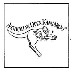 Международный товарный знак №547700 AUSTRALIAN OPEN KANGAROO