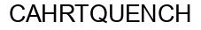 Международный товарный знак №561481 CAHRTQUENCH