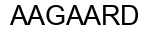 Международный товарный знак №568699 AAGAARD