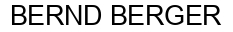 Международный товарный знак №771208 BERND BERGER