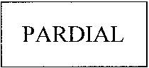 Международный товарный знак №792516 PARDIAL
