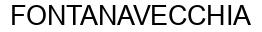 Международный товарный знак №869400 FONTANAVECCHIA