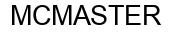 Международный товарный знак №872392 MCMASTER