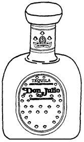 Товарный знак №166754 TEQUILA DON JULIO 3