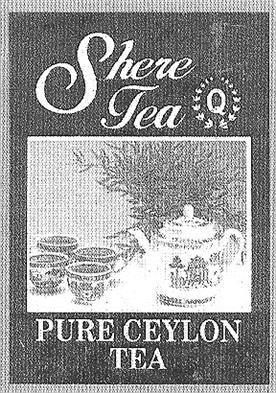 Товарный знак №167107 SHERE PURE CEYLON TEA Q
