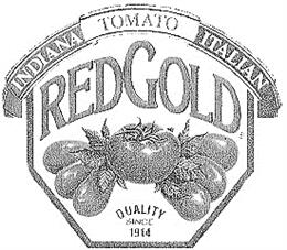 Товарный знак №167123 RED GOLD INDIANA TOMATO ITALIAN QUALITY SINCE 1914