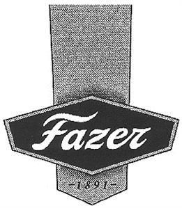Товарный знак №167410 FAZER 1891