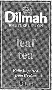 Товарный знак №167852 DILMAH PURE CEYLON LEAF TEA