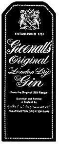 Товарный знак №167909 GREENALLS ORIGINAL GILBERT JOHN GREENALL ESTABLISHED 1761