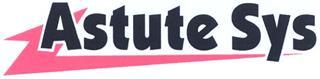 Товарный знак №328951 ASTUTESYS ASTUTE SYS ASTUTE SYS