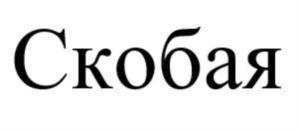 Товарный знак №755355 СКОБАЯ